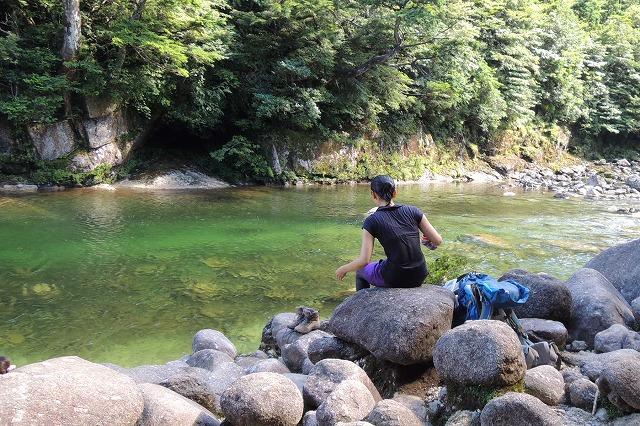 屋久島水浴び