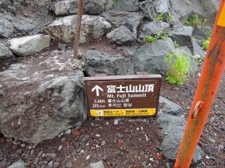 富士山案内板
